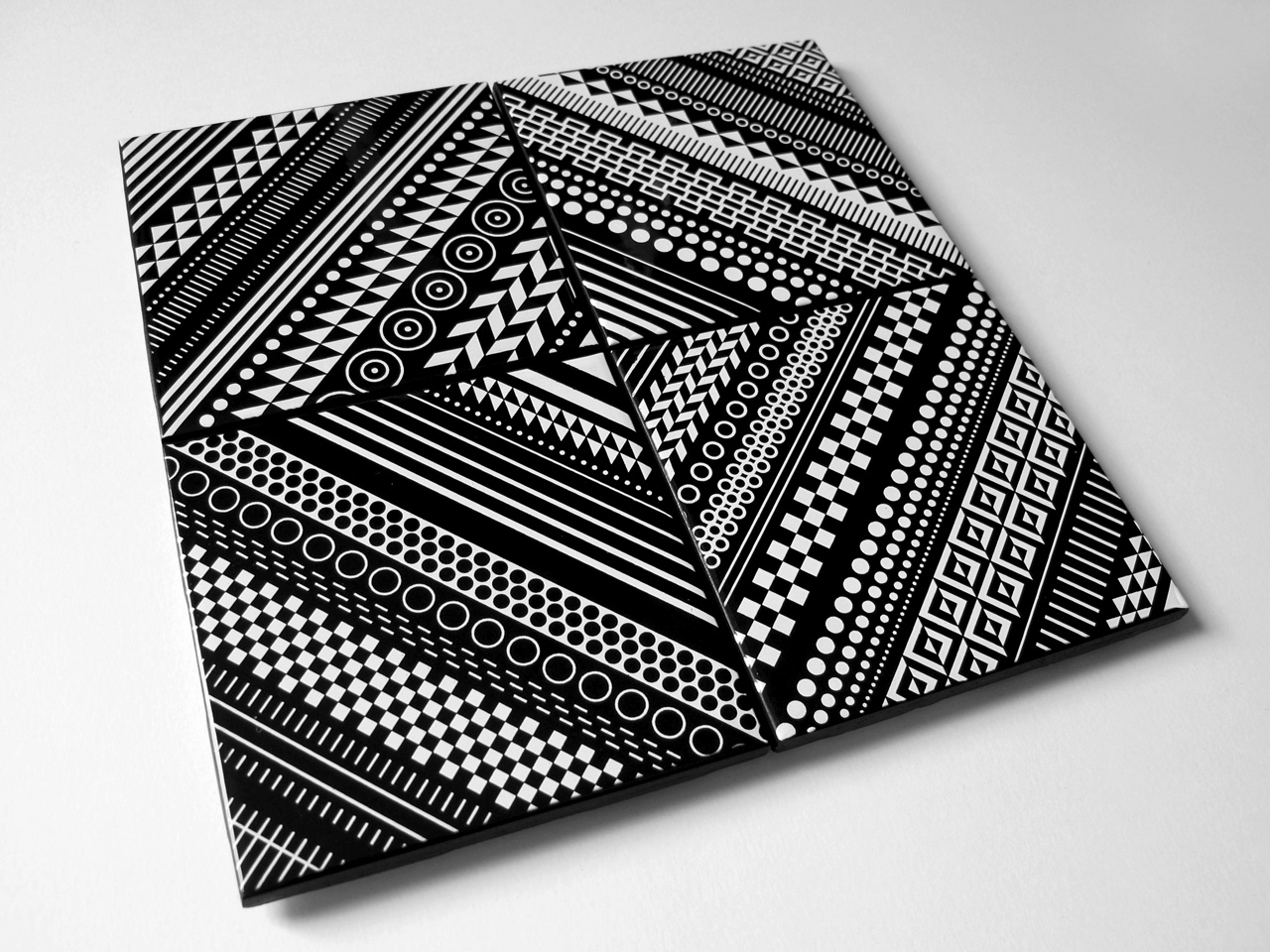 Ceramic Tile Coaster Set by Matt W. Moore